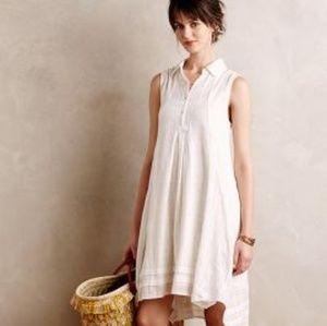 Anthro linen swing dress
